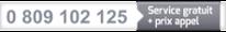 0 809 102 125 : Service gratuit + prix appel