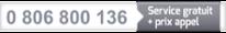 0 806 800 136 : Service gratuit + prix appel