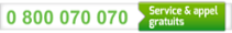 0 800 070 070 : Service & appel gratuits
