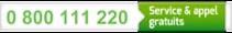 0 800 111 220 : Service & appel gratuits