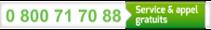 0 800 71 70 88 : Service & appel gratuits